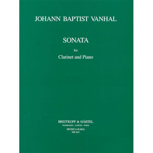 EDITION BREITKOPF VANHAL J.B. - SONATE IN B