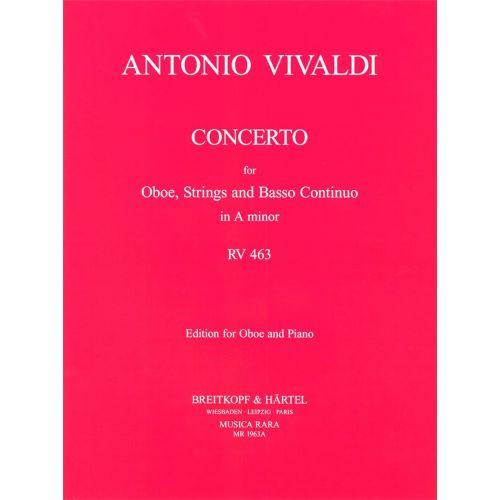 EDITION BREITKOPF VIVALDI A. - CONCERTO IN A RV 463