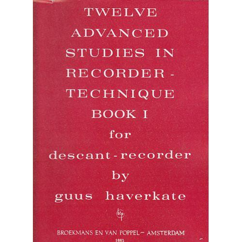 BROEKMANS & VAN POPPEL B.V. HAVERKATE - 12 ADVANCED STUDIES VOL.1 - RECORDER