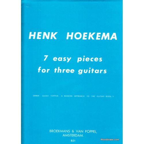 BROEKMANS & VAN POPPEL B.V. HOEKEMA - 7 EASY PIECES - 3 GUITARES