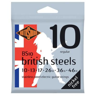 ROTOSOUND BRITISH STEELS STAINLESS STEEL REGULAR 10 13 17 26 36 46