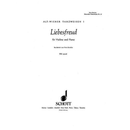 SCHOTT KREISLER FRITZ - LIEBESFREUD - VIOLIN AND PIANO