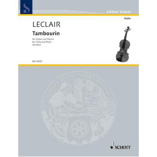 SCHOTT LECLAIR JEAN-MARIE - TAMBOURIN - VIOLIN AND PIANO