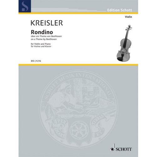SCHOTT KREISLER FRITZ - RONDINO - VIOLIN AND PIANO
