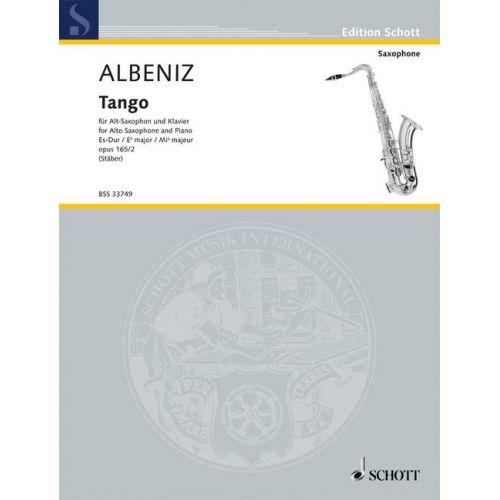 SCHOTT ALBENIZ ISAAC - TANGO OP. 165/2 - ALTO SAXOPHONE AND PIANO