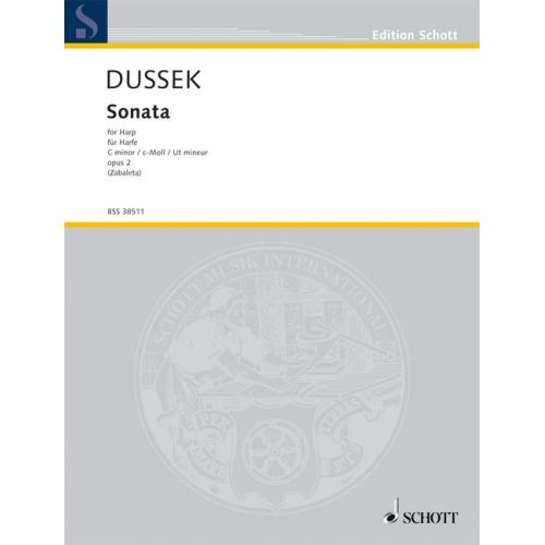SCHOTT DUSSEK SOPHIA GIUSTANI - SONATA C MINOR OP. 2 - HARP
