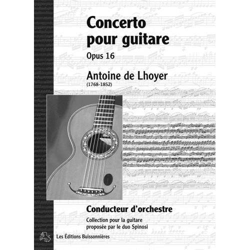 LES EDITIONS BUISSONNIERES DE LHOYER - CONCERTO POUR GUITARE OP.16 - GUITARE (CONDUCTEUR)