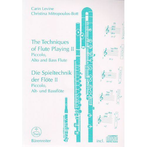 BARENREITER LEVINE / MITROPOULOS-BOTT - THE TECHNIQUES OF FLUTE PLAYING VOL.2