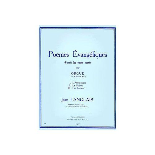 COMBRE LANGLAIS JEAN - POEMES EVANGELIQUES (3) - ORGUE