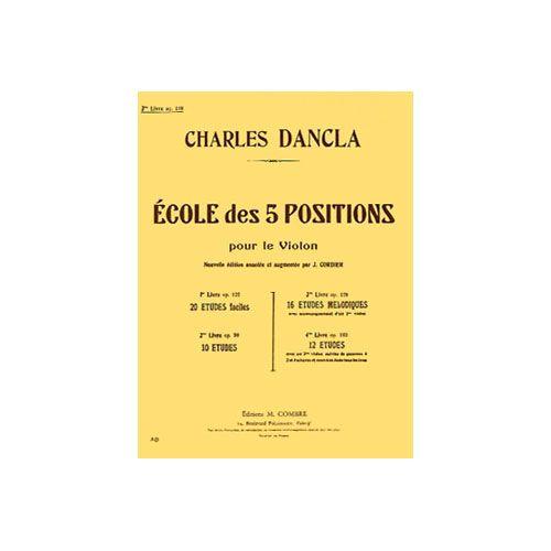 COMBRE DANCLA CHARLES - ECOLE 5 POSITIONS VOL.3 OP.128 (16 ETUDES MELODIQUES) - VIOLON