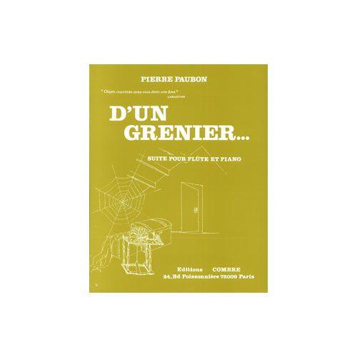 COMBRE PAUBON PIERRE - D'UN GRENIER (5 PIECES) - FLUTE ET PIANO
