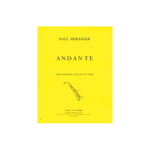 COMBRE MERANGER PAUL - ANDANTE - SAXOPHONE ET PIANO