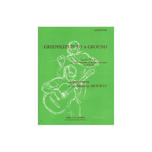 COMBRE GREENSLEEVES TO A GROUND - FLUTE ET GUITARE