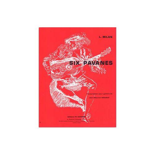 COMBRE MILAN LUIS DE - PAVANES (6) - GUITARE