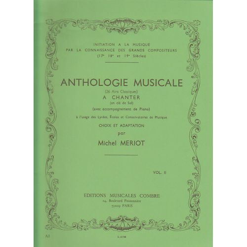 COMBRE MERIOT MICHEL - ANTHOLOGIE MUSICALE VOL.2