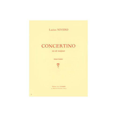 COMBRE NIVERD LUCIEN - CONCERTINO EN UT MAJEUR - PIANO