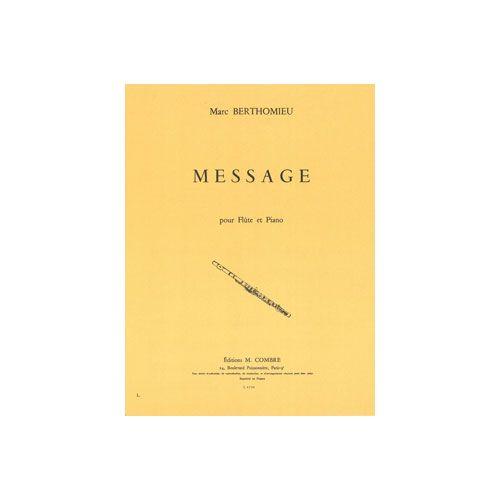 COMBRE BERTHOMIEU MARC - MESSAGE - FLUTE ET PIANO