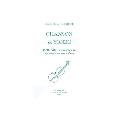 COMBRE JOUBERT CLAUDE-HENRY - CHANSON DE YONEC - ALTO ET PIANO