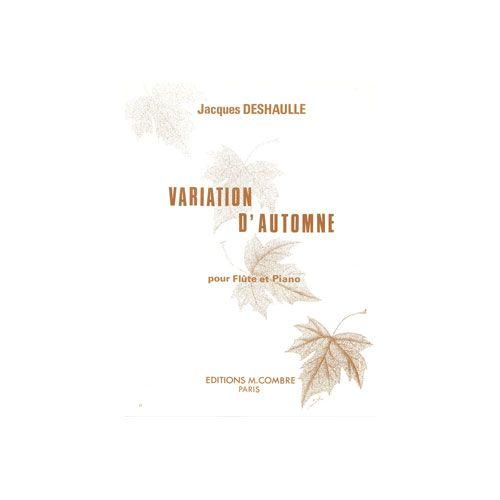 COMBRE DESHAULLE JACQUES - VARIATION D'AUTOMNE - FLUTE ET PIANO