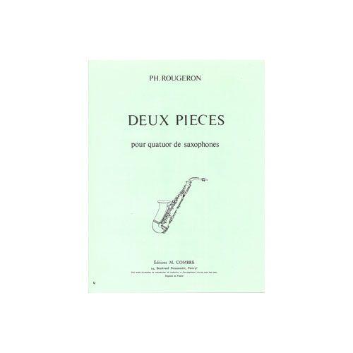 COMBRE ROUGERON PHILIPPE - PIECES (2) : SOLITUDE - VIEIL AIR - 4 SAXOPHONES