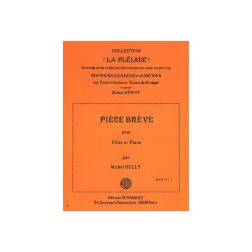 COMBRE GULLY MICHEL - PIECE BREVE - FLUTE ET PIANO