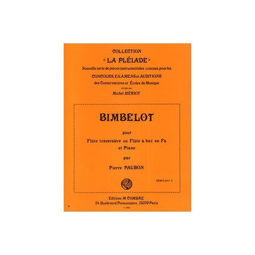 COMBRE PAUBON PIERRE - BIMBELOT - FLUTE OU FLUTE A BEC EN FA ET PIANO