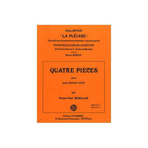 COMBRE DEMILLAC FRANCIS-PAUL - PIECES (4) - GUITARE
