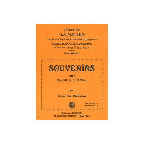 COMBRE DEMILLAC FRANCIS-PAUL - SOUVENIRS - CLARINETTE ET PIANO