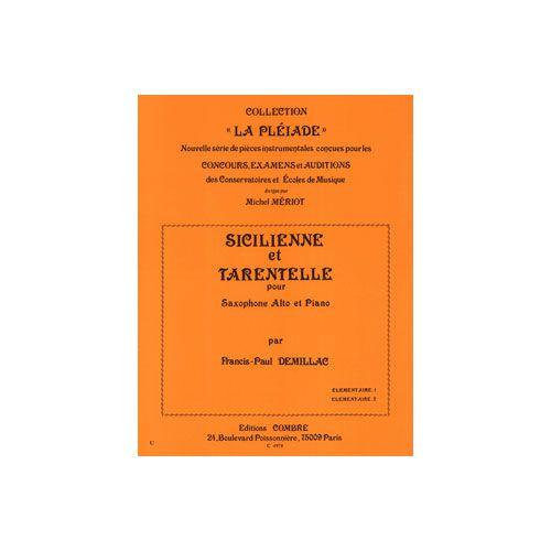 COMBRE DEMILLAC FRANCIS-PAUL - SICILIENNE ET TARENTELLE - SAXOPHONE ET PIANO