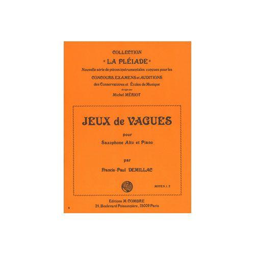 COMBRE DEMILLAC FRANCIS-PAUL - JEUX DE VAGUES - SAXOPHONE ET PIANO