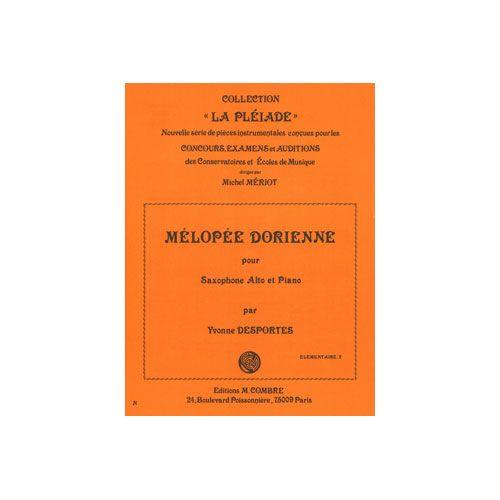 COMBRE DESPORTES YVONNE - MELOPEE DORIENNE - SAXOPHONE ET PIANO