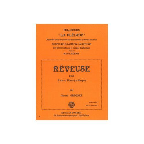 COMBRE GROGNET GERARD - REVEUSE - FLUTE ET PIANO (OU HARPE)