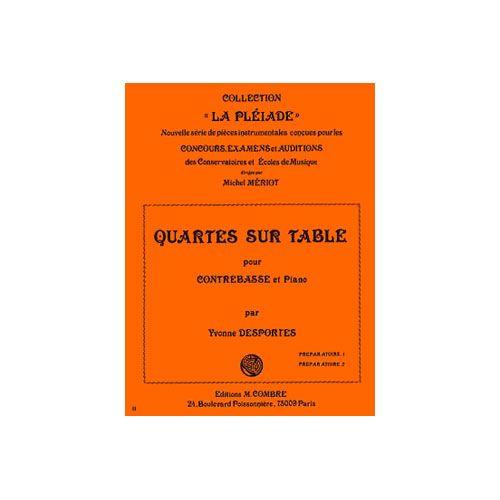COMBRE DESPORTES YVONNE - QUARTES SUR TABLE - CONTREBASSE ET PIANO