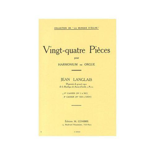 COMBRE LANGLAIS JEAN - PIECES (24) CAHIER N.1 (1 A 12) - ORGUE OU HARMONIUM