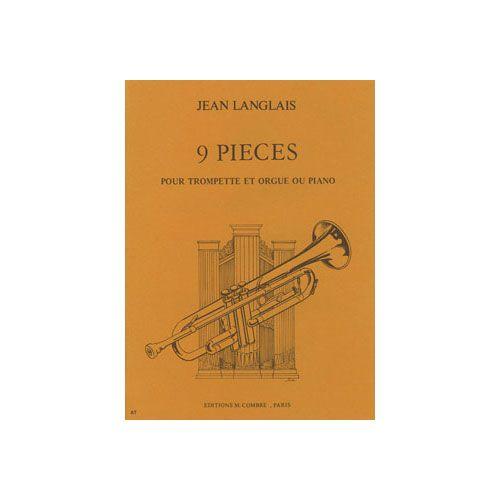 COMBRE LANGLAIS JEAN - PIECES (9) - TROMPETTE ET PIANO OU ORGUE