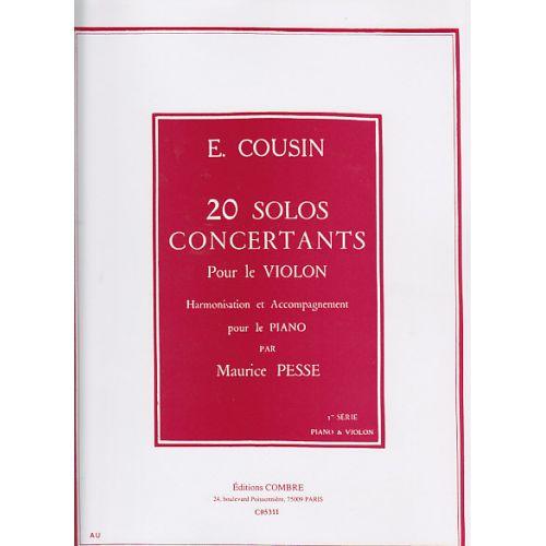 COMBRE COUSIN EMILE - 20 SOLOS CONCERTANTS 1ERE SERIE : 1 A 10