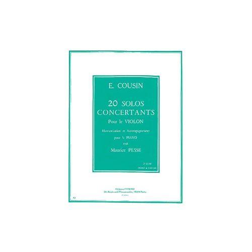 COMBRE COUSIN EMILE - 20 SOLOS CONCERTANTS 2EME SERIE : 11 A 20