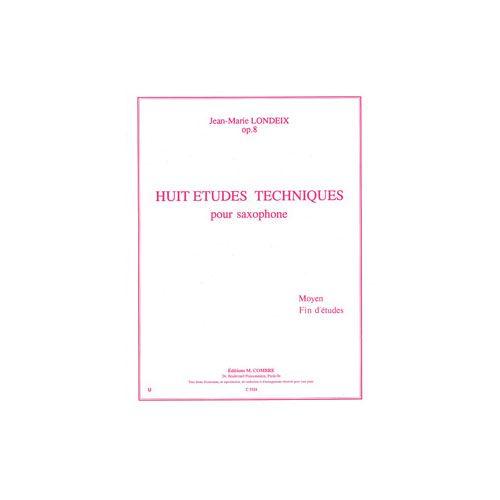 COMBRE LONDEIX JEAN-MARIE - ETUDES TECHNIQUES (8) - SAXOPHONE