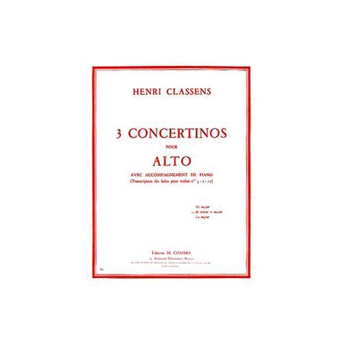 COMBRE CLASSENS HENRI - CONCERTINO EN RE MINEUR, RE MAJEUR - ALTO, PIANO