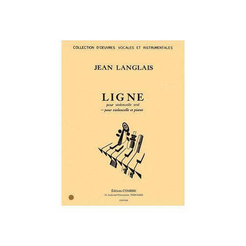 COMBRE LANGLAIS JEAN - LIGNE POUR VIOLONCELLE ET PIANO - PARTIE DE PIANO