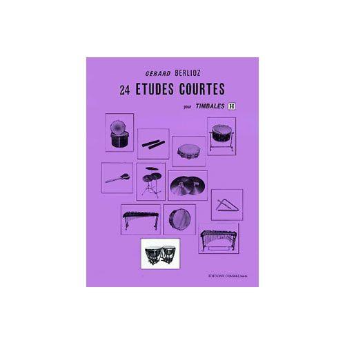 COMBRE BERLIOZ GERARD - ETUDES COURTES (24) VOL.H - TIMBALES