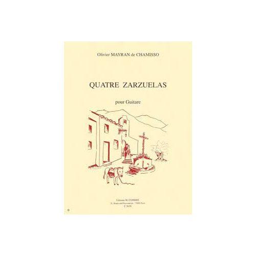 COMBRE MAYRAN DE CHAMISSO OLIVIER - ZARZUELAS (4) - GUITARE