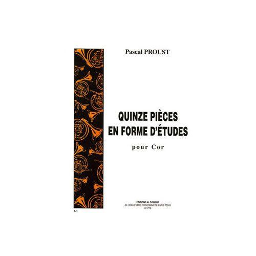 COMBRE PROUST PASCAL - PIECES EN FORME D'ETUDES (15) - COR