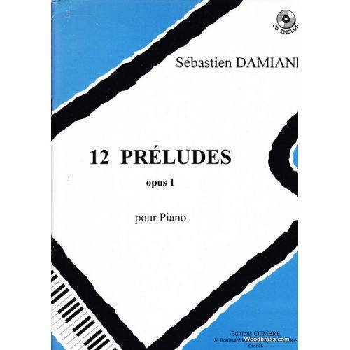 COMBRE DAMIANI S. - PRELUDES (12) OP.1 - PIANO