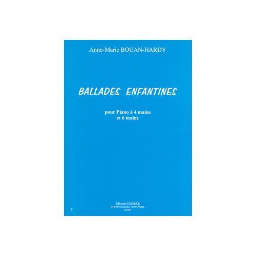 COMBRE BOUAN-HARDY ANNE-MARIE - BALLADES ENFANTINES (9 PIECES) - PIANO A 4 ET 6 MAINS