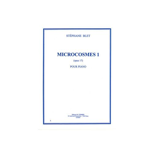 COMBRE BLET STEPHANE - MICROCOSMES 1 OP.17 - PIANO
