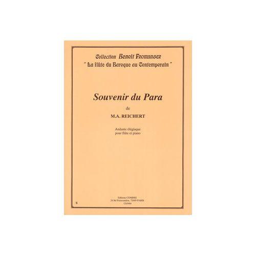 COMBRE REICHERT M. A. - SOUVENIR DU PARA - FLUTE ET PIANO