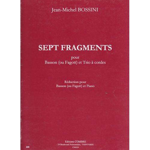 COMBRE BOSSINI JEAN-MICHEL - 7 FRAGMENTS