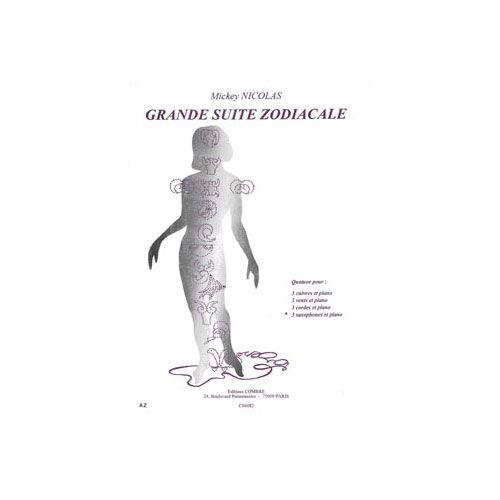 COMBRE NICOLAS MICKEY - GRANDE SUITE ZODIACALE - 3 SAXOPHONES ET PIANO