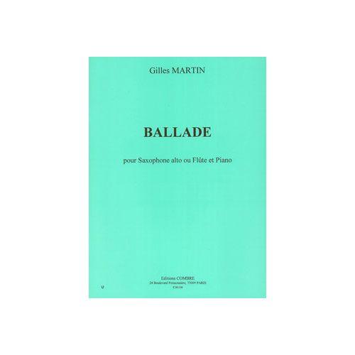 COMBRE MARTIN GILLES - BALLADE - SAXOPHONE ALTO OU FLUTE ET PIANO